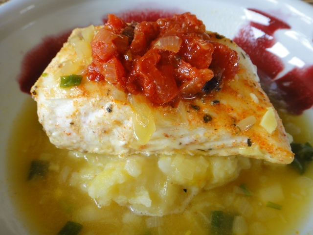 Baked%20Halibut%20in%20a%20Saffron%20Broth%20over%20Mashed%20Potatoes%20with%20a%20Tomato%20and%20Black%20Olive%20Ragout.jpg