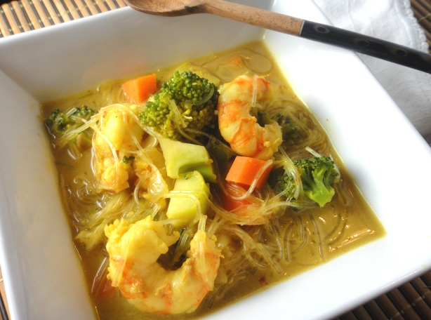 Shrimp and Broccoli Coconut Soup